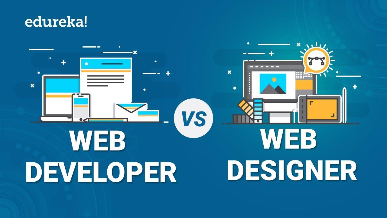 Web Developer Vs Web Designer Difference Between A Web Developer And Web Designer Edureka Designing For Uncertainty