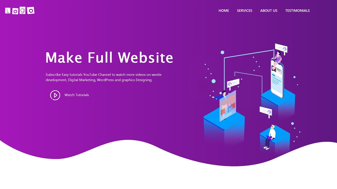 How To Make A Website Using Html Css Bootstrap Complete Website Design Tutorial Designing For Uncertainty